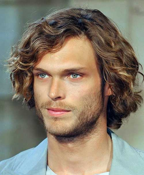 Curly Long Hair Men