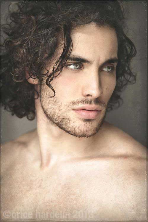 Curly Men Hairstyles Ideas for Long Face