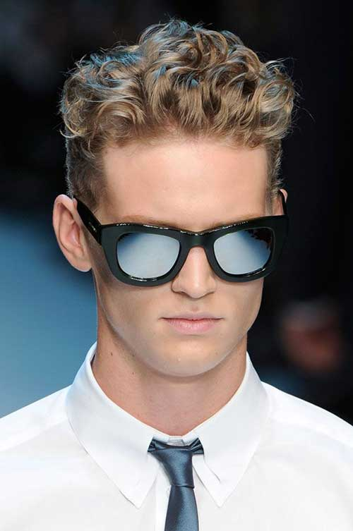 Curly Mens Blonde Hairstyles 2015