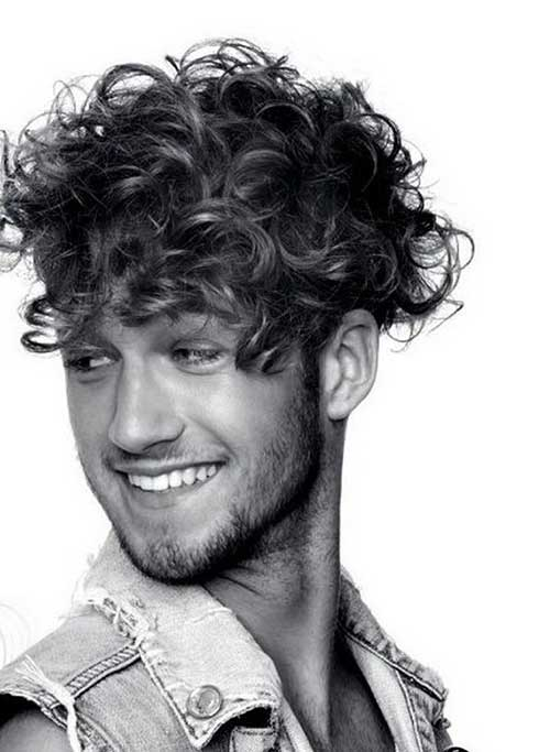 Curly Mens Medium Hairstyles