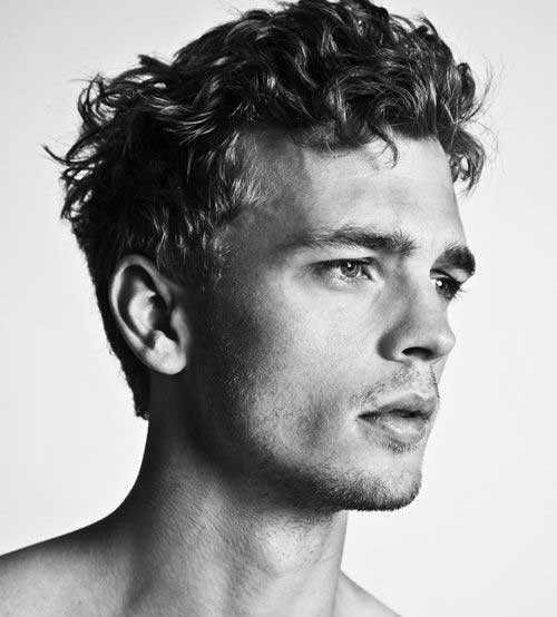 Curly Mens Short Nice Hairstyles 2015