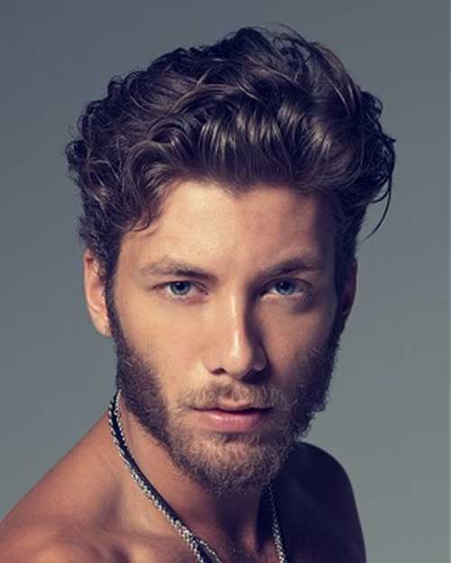 Curly Wavy Hairstyles for Men
