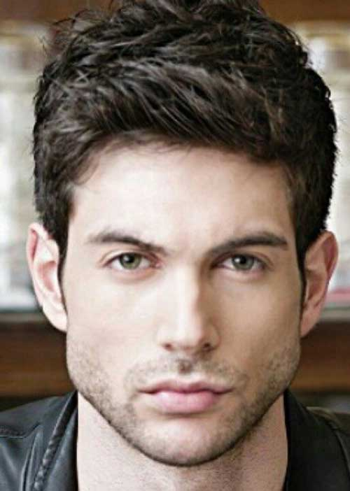 Dark Brown Thick Hairstyles for Guys