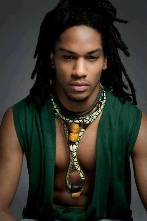 Dark Dreadlocks Hairstyles for Men Styles