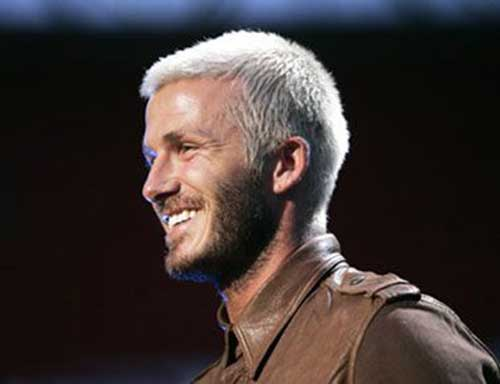 David Beckham Blonde Hair 2015