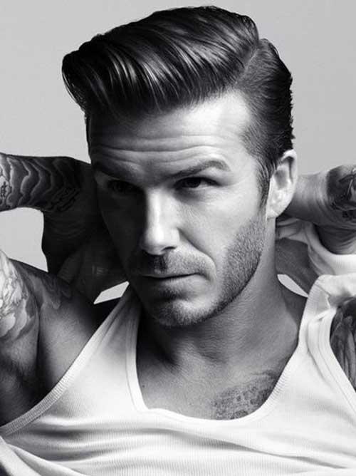 David Beckham Pompadour Hair Style