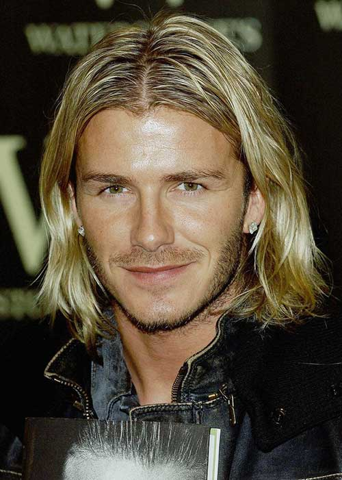 David Beckham Long Hairstyles