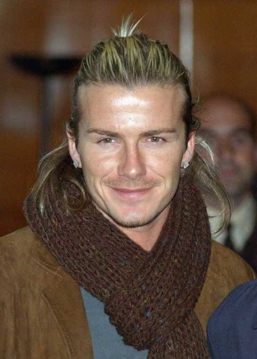 David Beckham Ponytail Hair