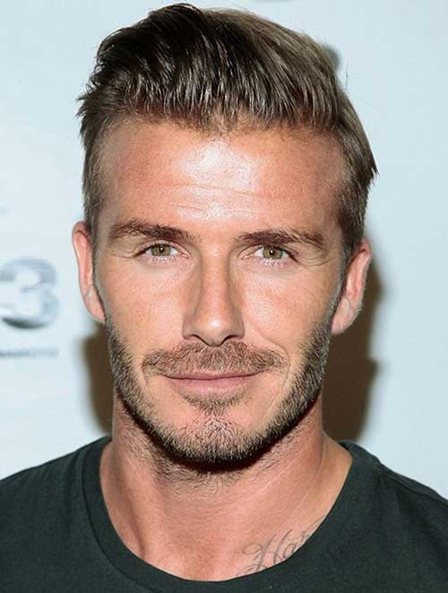 David Beckham Short Slicked Hair
