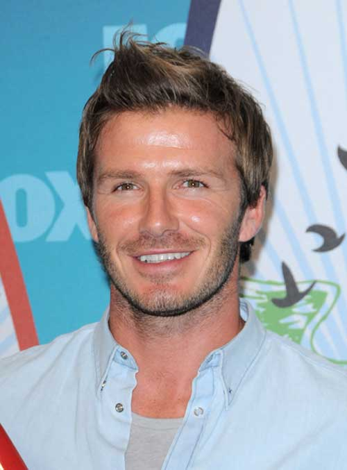 David Beckham Short Trendy Hairstyles 2015