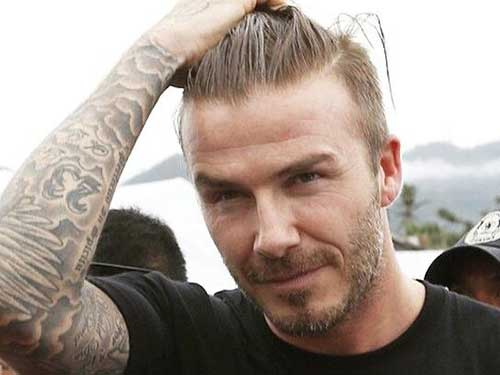 David Beckham Sporty Hair 2015