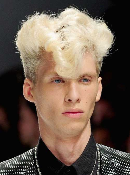 Different Punk Curly Hairstyles Men