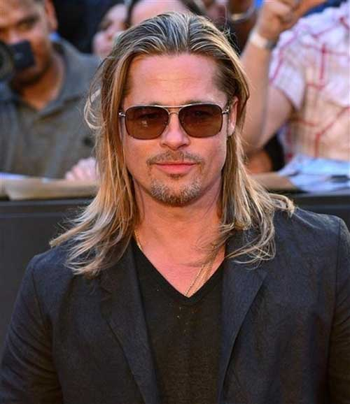 Famous Men Straight Blonde Long Hairstyle Ideas