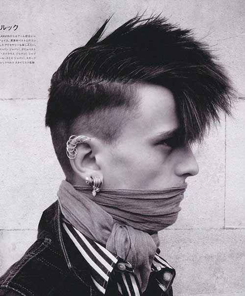Fashionable Punk Hairstyles Men