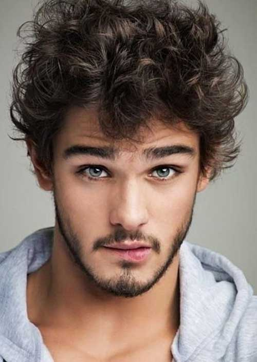 Fine Curly Mens Hairstyles Ideas 2015