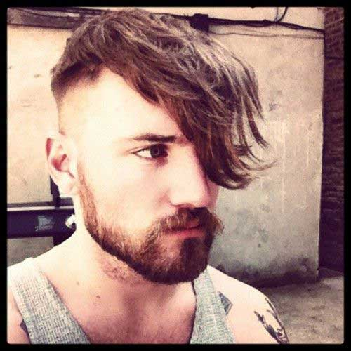 Fringe Hair with Side Shave Men