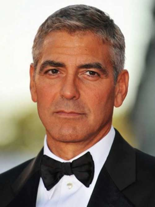 George Clooney Best Short Hair Cuts