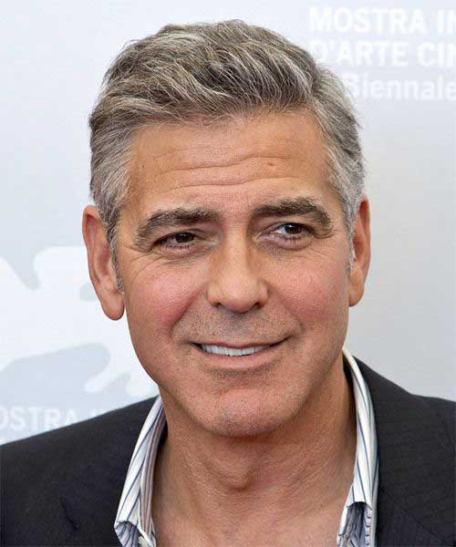 George Clooney Casual Short Hairstyles