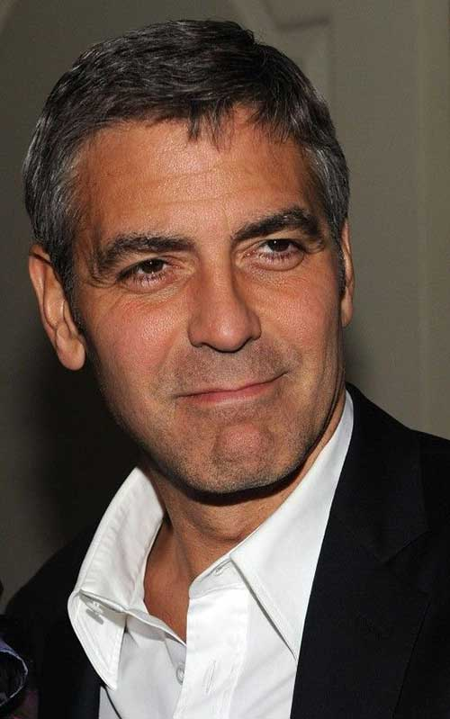 George Clooney Cool Short Hair