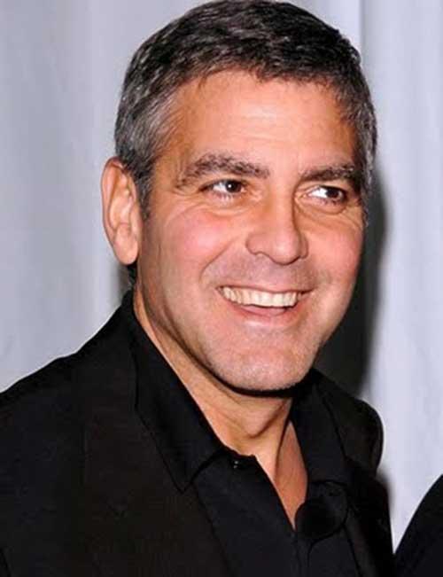 George Clooney Fine Short Hair Ideas