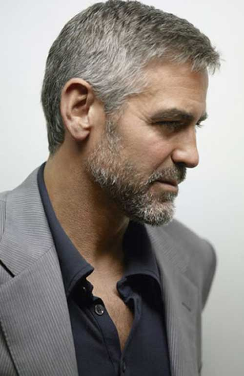 George Clooney Hair Cut Side View Look
