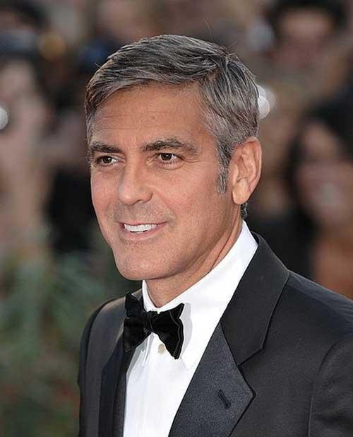 George Clooney Short Hair Cut
