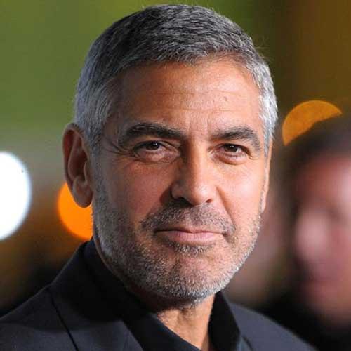 George Clooney Older Hair Style