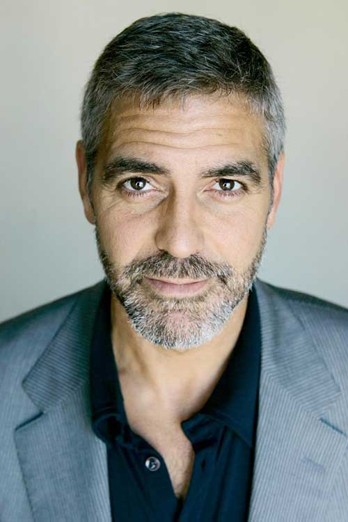 George Clooney Older Men Short Hairstyles