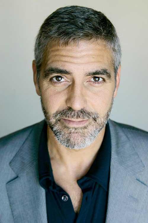 George Clooney Older Men Short Hairstyles
