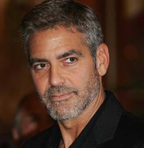George Clooney Short Grey Hair Styles