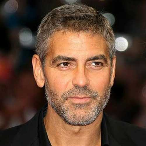 George Clooney Trend Short Hair Idea