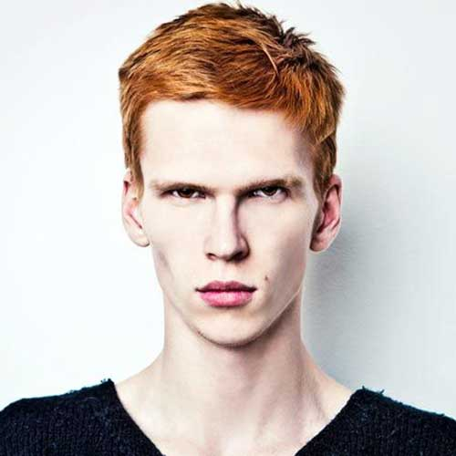 Ginger Mens Thick Hairstyles