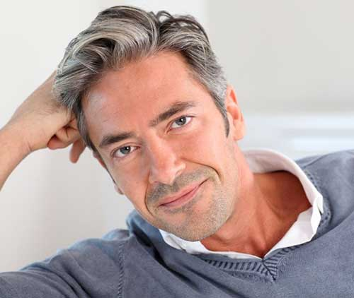 Gray Color Short Hairstyles for Men