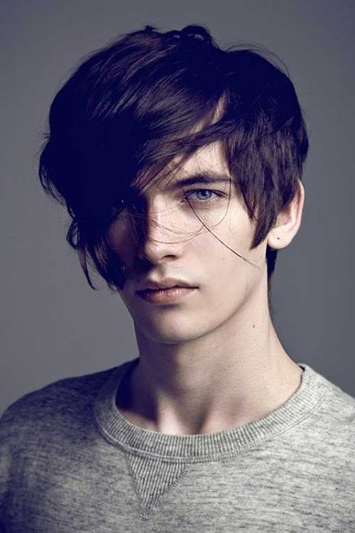 Medium Hairstyle for Long Face Men