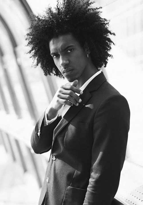 Afro Hairstyles for Black Men with Long Hair