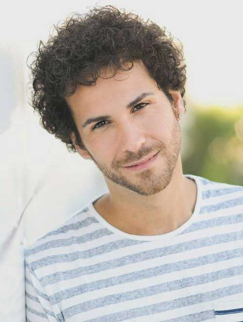 Latest Curly Thick Hairstyles for Men