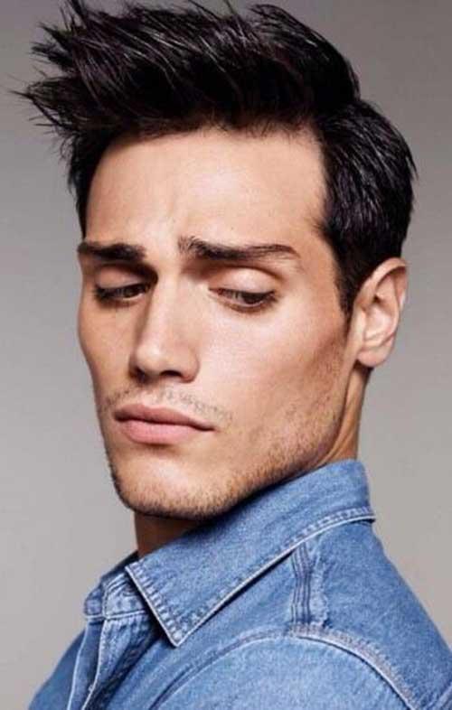 Latest Short Dark Hairstyle for Men