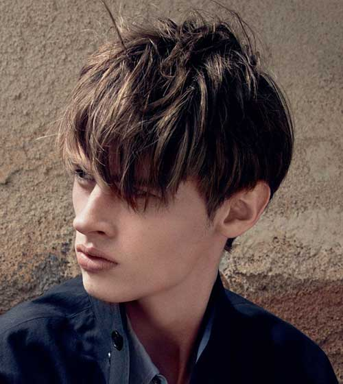 Medium Fringe Thick Hairstyles for Men