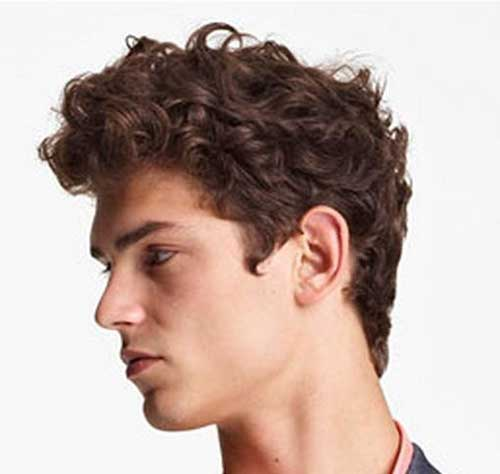 Hairstyles For Men With Curly Hair : Man with Curly Hairstyle Undercut