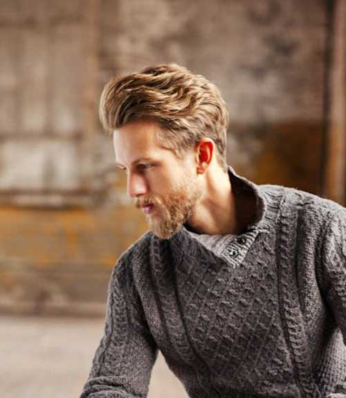 Mens Blonde Thick Hairstyles