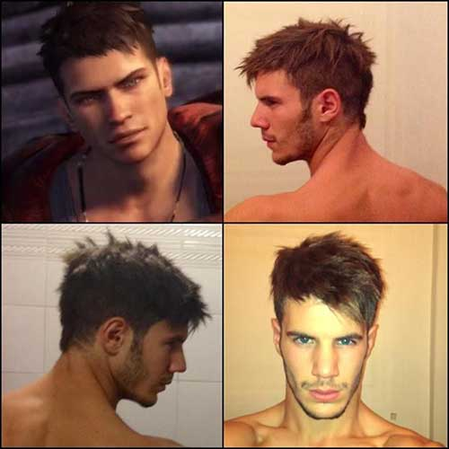 Mens Rock Hairstyle Dante Style