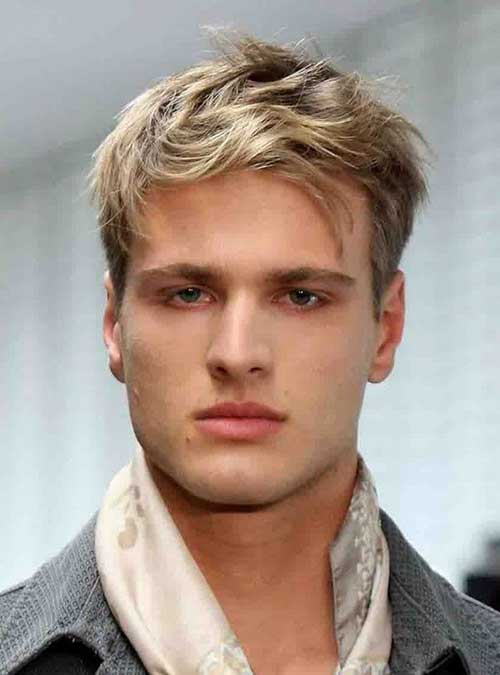 Mens Side Swept Fine Hairstyle