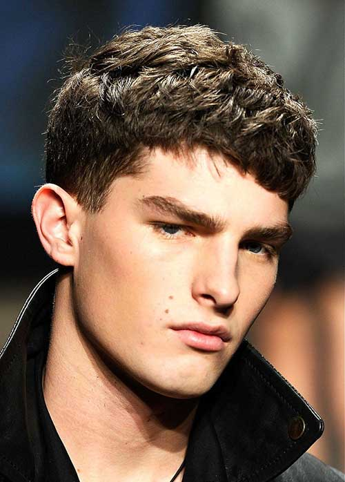 Mens Thick Dark Hair Cut