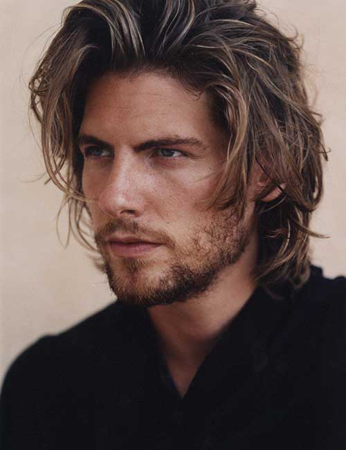 Medium Wavy Haircut For Men Layered 2016