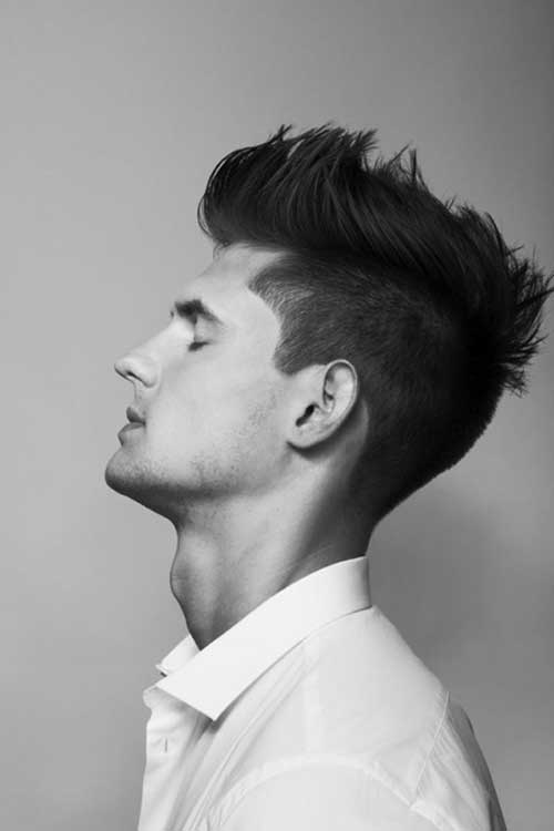Top Messy Pompadour Men