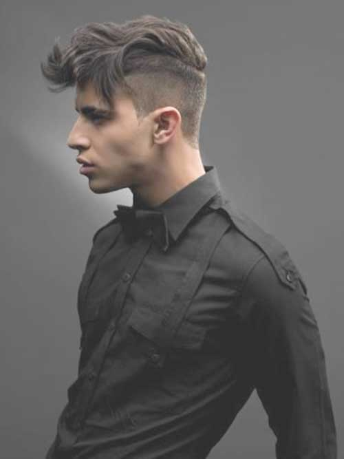 Razor Cut Dark Hairstyles for Men