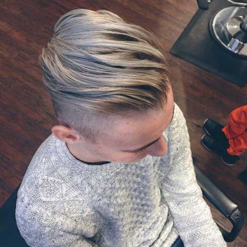 Razor Haircuts for Blonde Men