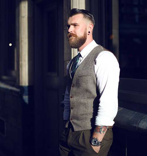 Rockabilly Dark Hairstyles for Men