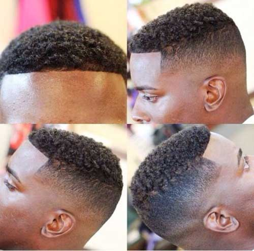 Short Cut Fade Haircut Black Men