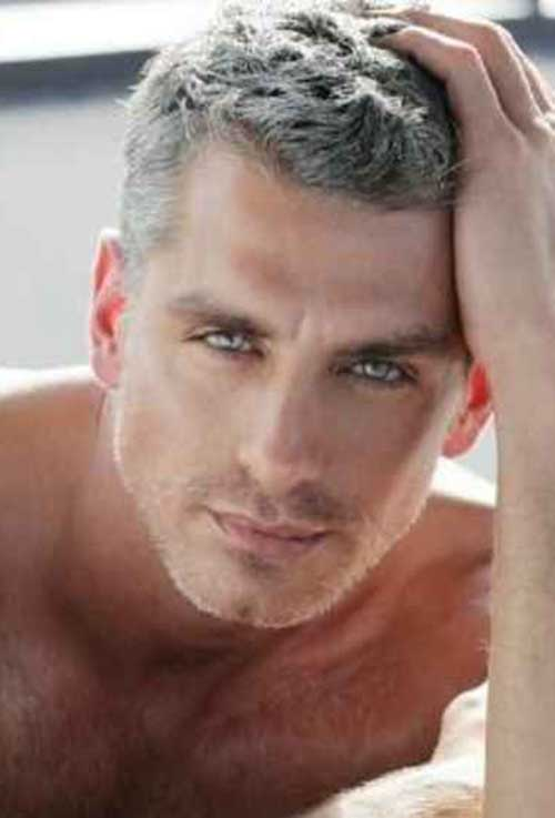 Short Hair for Men with Gray Color